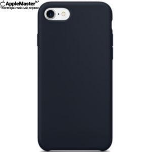 Тёмно-синий силиконовый чехол для iPhone 7/8