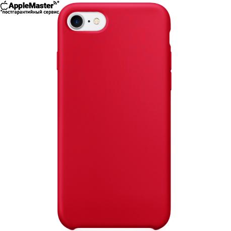 Красный силиконовый чехол для iPhone 7/8