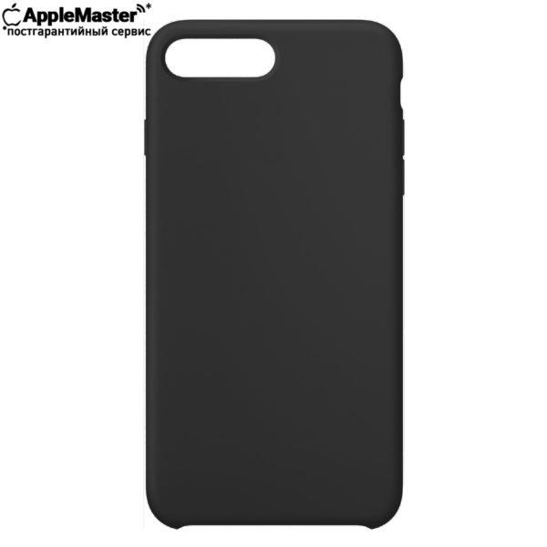 Черный силиконовый чехол для iPhone 7/8 plus