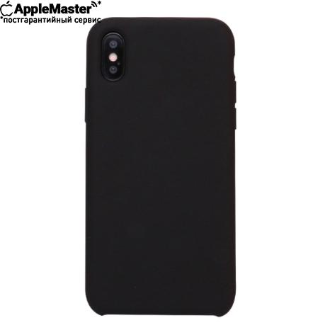 Черный силиконовый чехол для iPhone X/XS