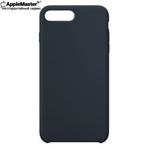 Тёмно-синий силиконовый чехол для iPhone 7/8 plus