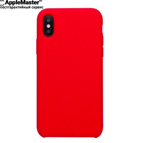 Красный силиконовый чехол для iPhone X/XS