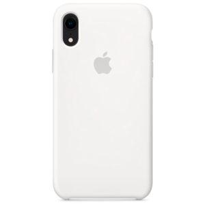 Белый силиконовый чехол для iPhone Xr