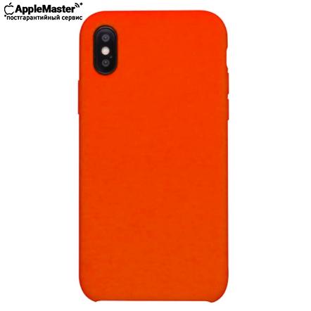 Коралловый силиконовый чехол для iPhone X/XS