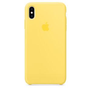 Жёлтый силиконовый чехол для iPhone XS Max