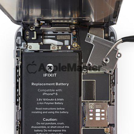 Снятие щитка шлейфов экрана iPhone 6