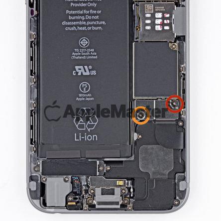 Снятие скобы аккумулятора iPhone 6