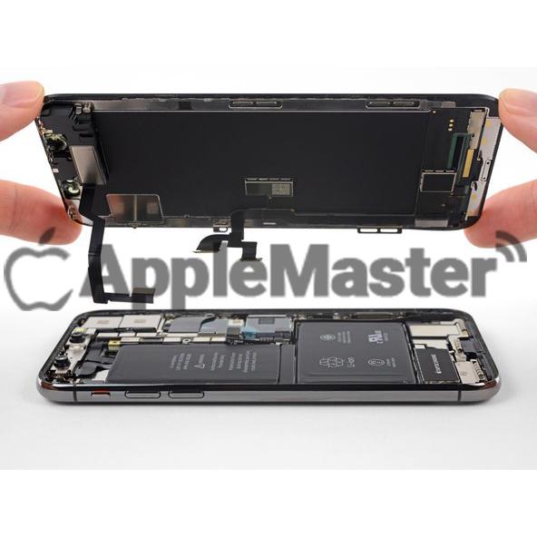 Отсоединение шлейфов дисплея iPhone X