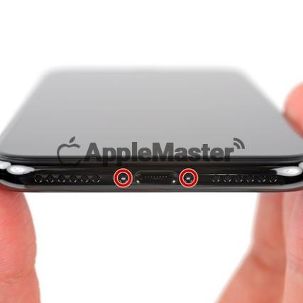 Скручивание торцевых винтов iPhone X