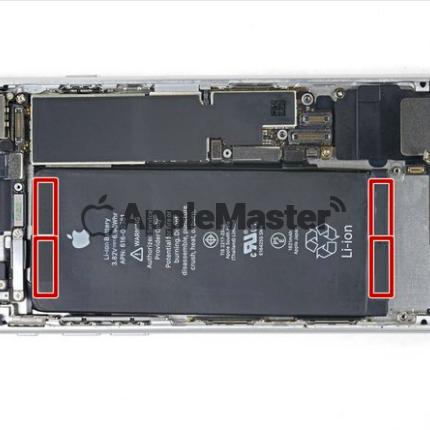 Расположение пломб батареи iPhone 8