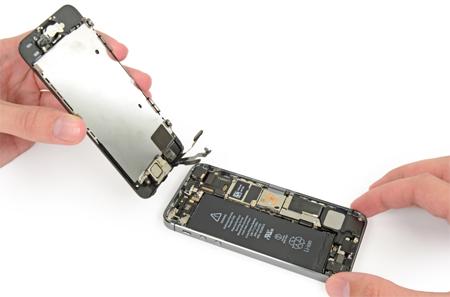 Отключение экрана Айфон 5S