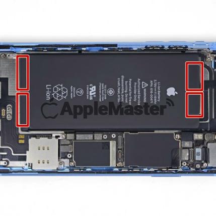 Локация пломб батареи iPhone Xr