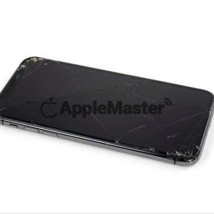 разбитое стекло iPhone Xr