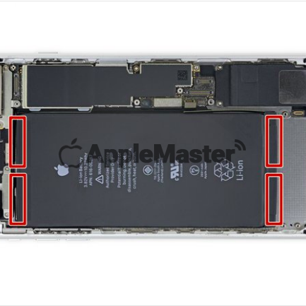 Расположение заводских пломб аккумулятора iPhone 8 Plus